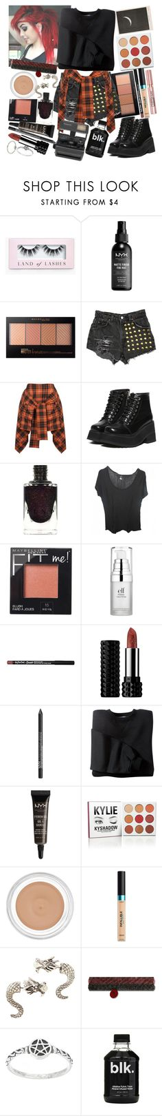 """Captivated when you say my name, but you make me wait. I'm only trying to make you melt & have you all to myself."" by thelyricsmatter ❤ liked on Polyvore featuring Boohoo, NYX, Maybelline, Levi's, Vivienne Westwood Anglomania, Zadig & Voltaire, e.l.f., Kat Von D, L'Oréal Paris and Hot Topic"