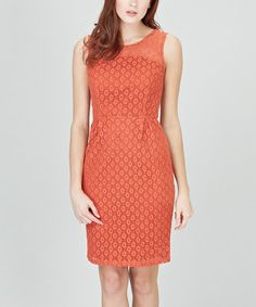 Take a look at this Burnt Coral Harriet Dress by Sugarhill Boutique on #zulily today!