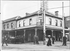 """All Nations Hotel"" corner of Elizabeth St and Collins St Hobart, Tasmania (c1900s) 