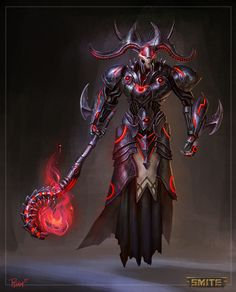 Smite Grim Reaper Hades Concept by PTimm on DeviantArt Fantasy Concept Art, Fantasy Armor, Fantasy Character Design, Dark Fantasy Art, Character Inspiration, Character Art, Fantasy Monster, Monster Art, Fantasy Creatures