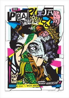 Pearl Jam w/ X - silkscreen concert poster (click image for more detail) Artist: Ames Design & Shawn Wolfe Venue: MCR Arena Location: Manchester, UK Concert Date: Edition: signed and nu Tour Posters, Band Posters, Art Pop, Norman Rockwell, Pearl Jam Posters, Punk Poster, Gig Poster, Vintage Music Posters, Retro Posters