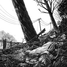 """Dorchester boys"" Scratchboard illustration by Alejo Porras (Two Rivers Creative) for the Boston Globe."