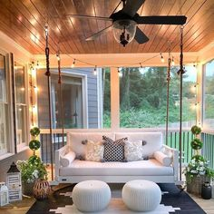 Where's your favorite spot to relax right now? 🍃 We hope you've got a place where you can feel a nice breeze this summer. If not, a ceiling fan might be in order *somewhere* in your space. Farmhouse Outdoor Decor, Farmhouse Front Porches, Farmhouse Style Decorating, Porch Decorating, Rustic Decor, Decorating Ideas, Modern Farmhouse, Decor Ideas, Kirkland Home Decor