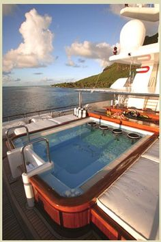 Pool Deck, Greg Norman's Yacht - #boating #yachts #sailing #sailboat #luxury #fishing