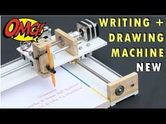 How to Make Homework Writing Machine at home Learn How to make homework writing and drawing machine at home using Stepper motor. Cool Art Projects, Cnc Projects, Arduino Projects, Front Page Design, Page Borders Design, Xy Plotter, Arduino Cnc, Arduino Stepper, Cnc Router Plans