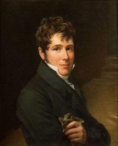 Pascal François Gérard, dit BARON GERARD (Rome 1770-Paris 1837) Portrait de Charles- Just- François Victurnien, 4è prince de Beauvau (1793-1864) Toile d'origine 60 x 50 cm.