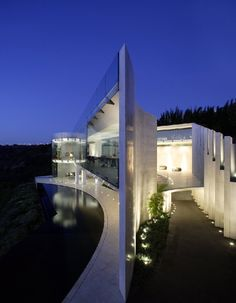 Stunning hill side home.