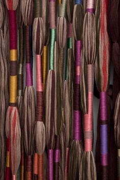 Alison Jacques Gallery is delighted to announce that Sheila Hicks will be included in the 2014 Whitney Biennial, curated by Stuart Comer (Chief Curator of Media and Performance Art at MoMA), Anthony Sheila Hicks Procession Temuco, Linen, iron 227 x 3 Textile Texture, Textile Fiber Art, Textile Artists, Sheila Hicks, Fabric Manipulation, Weaving Techniques, Fabric Art, Textures Patterns, Textile Design