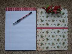 Handmade Christmas Holiday Clipboard by Luckycharmsthree on Etsy
