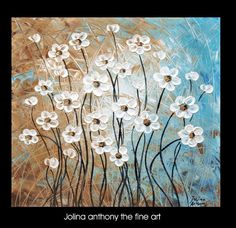original jolinas one of a kind white flowers by jolinaanthony, $249.00