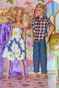 Cute barbie doll dress pattern...make your own clothes