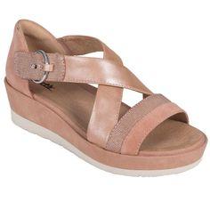145b6e1640f Earth Hibiscus - Women s Platform Wedge Sandal Peach - 8 Medium  fashion   clothing