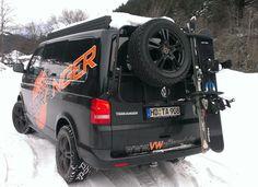 Ski-/Snowboard-Halter (Haltemodul) für unser modulares Heckträgersystem für VW T5/T6 und MB Vito