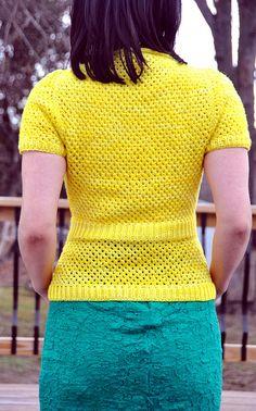 "Jettshin's ""Contiguos Shorty Neon-February"" sweater. Pattern ""Neon"" by Joji Locatelli"