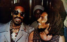 Stevie Wonder and Bob Marley