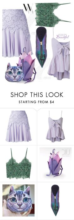 """Lotus"" by interesting-times ❤ liked on Polyvore featuring Giambattista Valli, Balenciaga and MANGO"