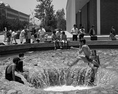 """UCLA tradition holds that freshmen are """"initiated"""" by being told to touch the water, and then forewarned that doing so again before graduation will tack on an extra quarter to their academic career."""