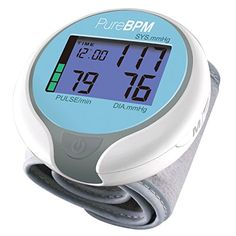 Purebpm Wrist Blood Pressure Monitor - Fast, Accurate Blood Pressure Readings At Home For Up To 2 Users - Large Display With Color Bar Hypertension Indicator, 2015 Amazon Top Rated Electronics & Gadgets #HealthandBeauty