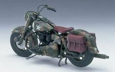 army motorcycle | US Army Motorcycle V-Spec Twin Bike 1/12 Aoshima | MonsterMarketplace ...