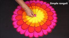 Happy Diwali Rangoli, Diwali Special Rangoli Design, Rangoli Designs Diwali, Rangoli Designs With Dots, Beautiful Rangoli Designs, Kolam Designs, Peacock Rangoli, Flower Rangoli, Advance Happy Diwali