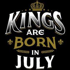f59d40cb973 18 Kings are born in July King Happy Birthday Men s T-Shirt - navy