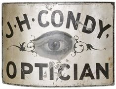 Pair of 19th Century San Francisco Optician Trade Signs from Giannetti Home $2,100.00