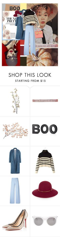 """BOO; the new pretty"" by sugaplump ❤ liked on Polyvore featuring Pier 1 Imports, Natural Life, Crate and Barrel, Sandy Liang, Christopher Kane, Lanvin, Christian Louboutin, Alexander McQueen and Sophie Hulme"