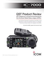 IC-7000 review - newer higher powered portable HF/VHF radio I'd like to have for home.