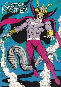 Ocean Master by Curt Swan & Joe Rubenstein King Shark, Ocean Master, Black Manta, Comics Universe, Aquaman, Comic Covers, Comic Character, Atlantis, Comic Art