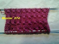 Bündchenmuster Muster 074*Stricken lernen* Muster für Pullover Strickjacke Mütze*Tutorial Handarbeit - YouTube