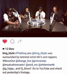 Yea yea D'range Live shout out to all my guys who rocked the mic yesterday @musicshowcase1 on Crenshaw, very dope skills, thanks for the platform.  We need to make this Huge from West Coast to the world!! @king_klyde