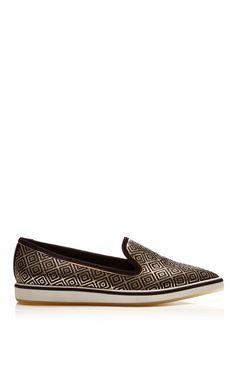 Black Gold Jacquard Microsole Loafer by Nicholas Kirkwood, Fall-Winter 2014 (=)