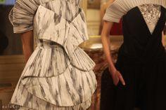 Ilja Haute Couture ss14 Paris Fashion Week folded pleated oragami dress Rothko inspired print textile