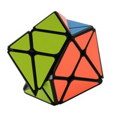 YongJun Axis Magic Cube Change Irregularly Jinggang Speed Cube with Frosted Sticker 3x3x3 Black Body Cube