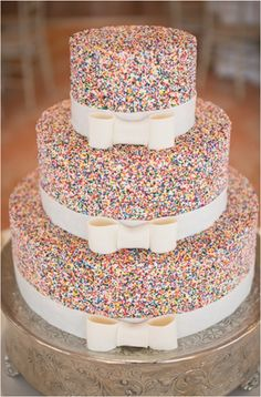 We're sweet on this sprinkle cake at @Four Seasons Resort The Biltmore Santa Barbara. Can you blame us?