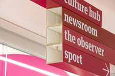 guardian news & media wayfinding and signage by cartlidge levene