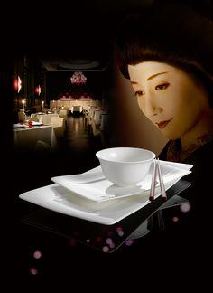 Miska na rýži Royal a sushi talíře Modern Grace Chocolate Fondue, Dinnerware, Sushi, Asia, Modern, Desserts, Food, Dish Sets, Events