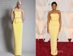 Jennifer Hudson looked lovely as she walked the red carpet of the 2015 Oscars at the Dolby Theatre in Hollywood on Sunday (February 22). The Academy Award
