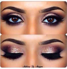 Sparkly pink eye makeup