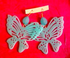 extra*big butterfly earings