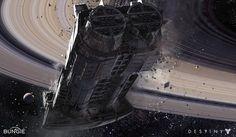 Destiny: Cassini Derelict, Dorje Bellbrook on ArtStation at http://www.artstation.com/artwork/destiny-cassini-derelict