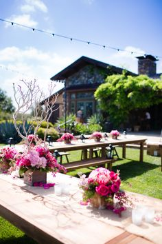 outdoor farm receptions | Outdoor Farm Table Reception Decor