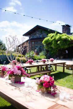 outdoor farm receptions | Outdoor Farm Table Reception Decor
