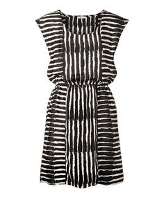 Edgy White & Black Stripe Dress want now!