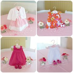 Baby Dress Centerpieces - Sweet Beginnings Baby Shower