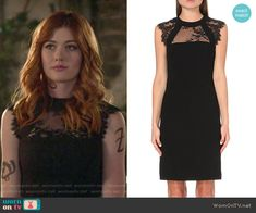 42c11fe07751 Clary s black lace dress on Shadowhunters. Outfit Details  https   wornontv.