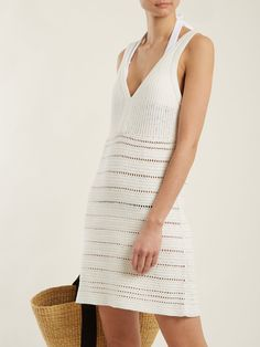 Crochet Clothes, Crochet Dresses, Metallic Sandals, Overall Dress, Cotton Dresses, Diane Von Furstenberg, Knit Dress, Bodycon Dress, One Piece