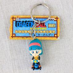Dragon Ball Z Bulma on Motorbike Figure Keychain Banpresto JAPAN ANIME