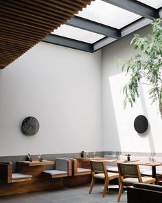 Inner courtyard at Pujol. Tagged: Dining Room, Chair, and Table. Photo 2 of 11 in 10 Best Places For Design Nerds to Dine in Mexico City. Browse inspirational photos of modern dining rooms. Patio Interior, Restaurant Interior Design, Commercial Interior Design, Commercial Interiors, Modern Restaurant, Restaurant Furniture, Restaurant Tables, Dining Room Tables Ikea, Dining Room Walls