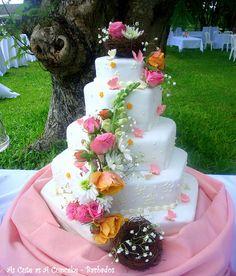 Garden Wedding Tiered Cake